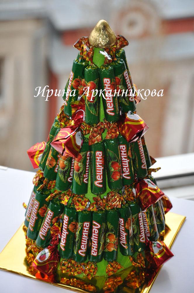 Елка с шоколадными конфетами